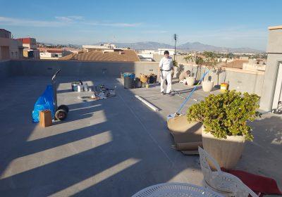 Reparación de cubierta plana en Alguazas (Murcia)