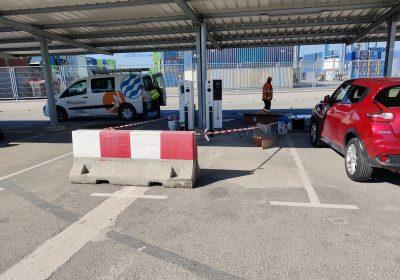 Instalación de dos puntos de recarga para vehículos eléctricos